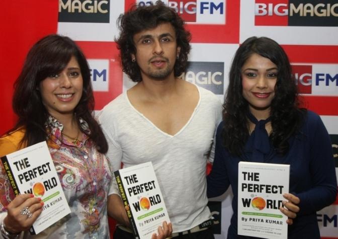 "Sonu Nigam launches motivational speaker Priya Kumar's book ""The Perfect World"" at 92.7 BIG FM"