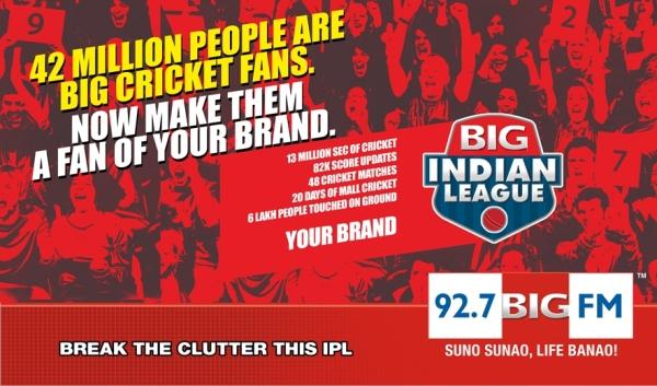 92.7 BIG FM LAUNCHES 'BIG INDIAN LEGAUE' THIS IPL SEASON