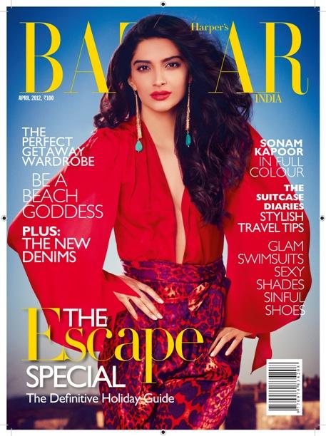 """Harper's BAZAAR April, 2012 Issue Unveils """"The Private Life of Sonam Kapoor"""""""