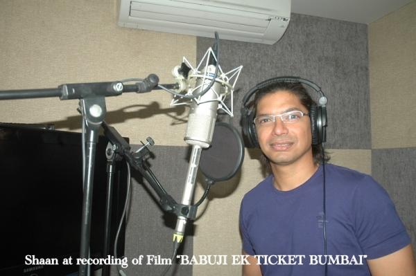 """Shaan sings for 2nd song of Film """"BABUJI EK TICKET BUMBAI""""."""