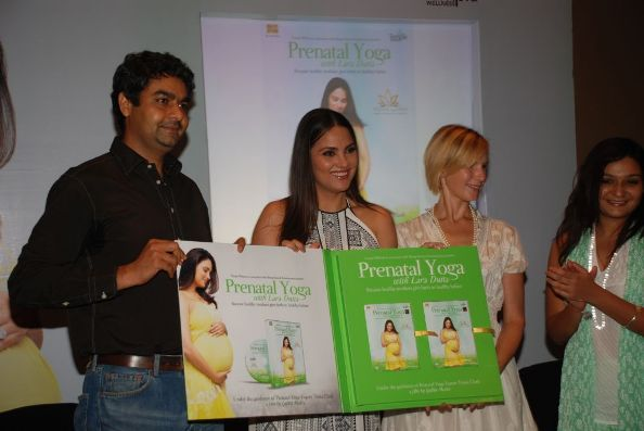 Launch of Prenatal Yoga with Lara Dutta DVD