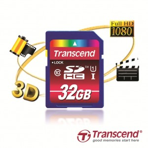 Transcend Introduces 32GB SDHC Class 10 UHS-I Cards to Offer More Space for Profession​al-quality Photo and Video Capture