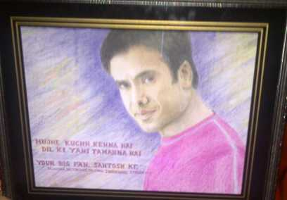 Ardent fan gifts Tusshar Kapoor a painting