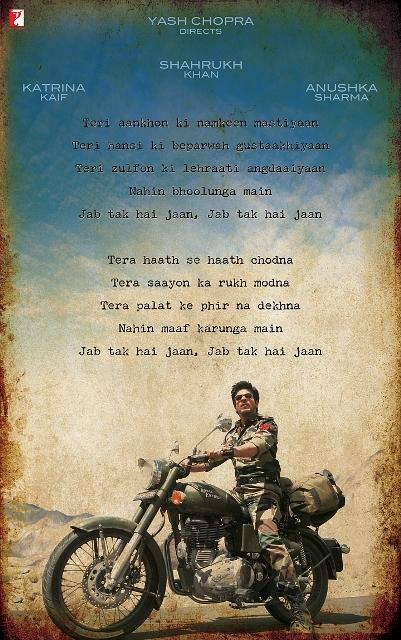 """YASH CHOPRA  directs  Shahrukh Khan, Katrina Kaif, Anushka Sharma  in  """"JAB TAK HAI JAAN"""""""