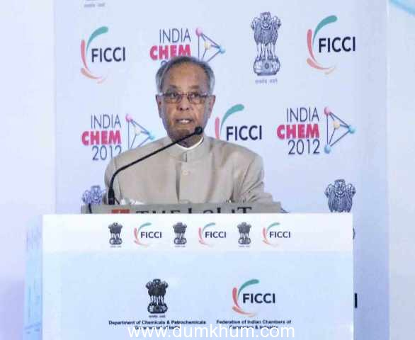President Mukherjee calls upon the Indian Chemical industry to invest in green technologies ; National Chemical Policy in the offing.