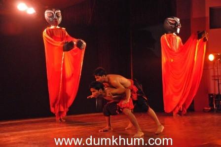 Astad Deboo performed Interpretating Tagore at the TATA Literature Live! The Mumbai Lit Festival 2012