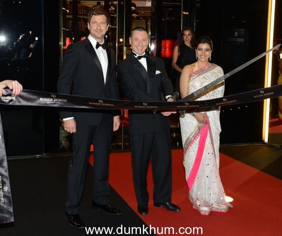 Gerard Butler and Kajol – Robert Dubuis' special guests in Dubai
