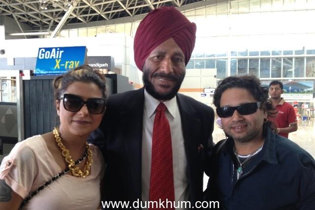 Hard Kaur and Kailash Kher meet Udan Sikh Milkha Singh