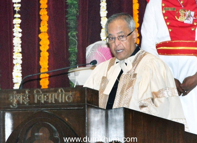 Speech of the President on the occasion of Convocation at the University of Mumbai at Mumbai