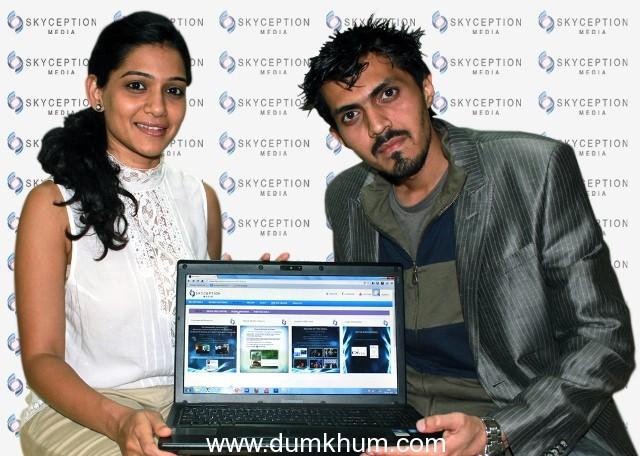 Roman Sen Launches www.skyception.com Unveiled by Urmila Kanetkar