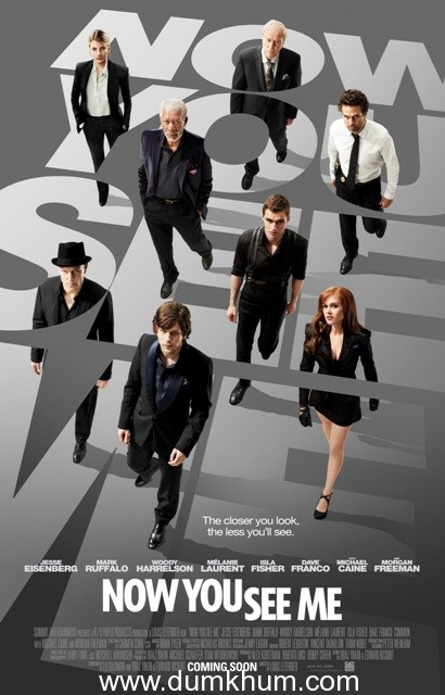 Jesse Eisenberg starrer 'Now You See Me' Poster released in India