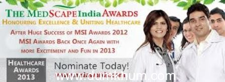 Dr Abdul Kalaam Azad to give awards at Medscape India National Awards on 20th April at Tulip Star,Juhu