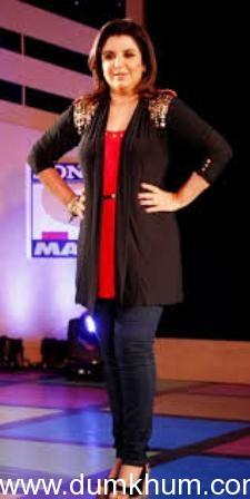 "Director/Choreographer Farah Khan launches the ""Sirf Dekhneka Nahi"" campaign for I P L 2013."