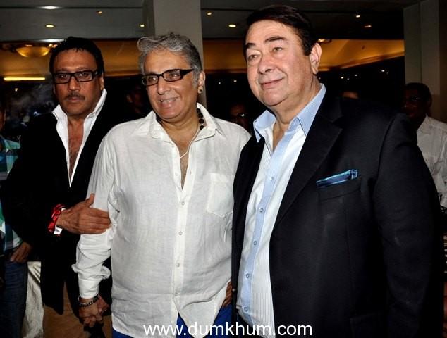 Randheer Kapoor & Jackie Shroff came to bless Aditya Raj Kapoor on mahurat of film Parents at Classic club,Andheri