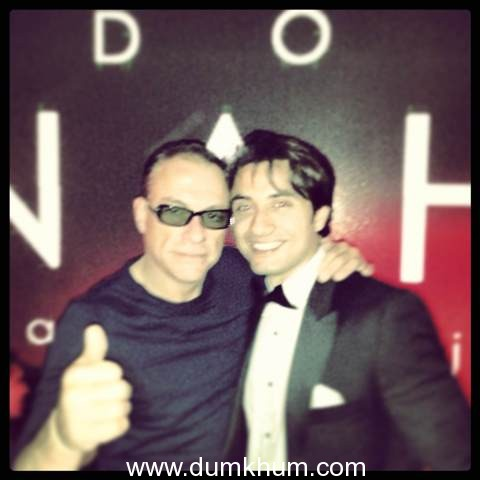 Ali Zafar meets with Jean Claude Van Damme at Cannes
