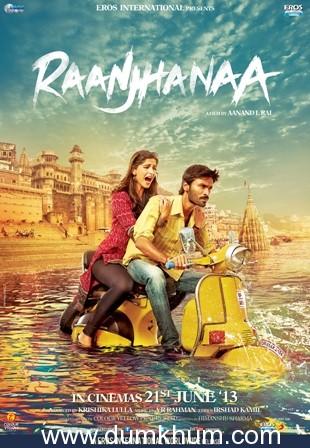 Raanjhanaa witnesses stupendous jump,wins over the box office