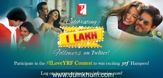 YRF Celebrates 1 Lakh fans on Twitter