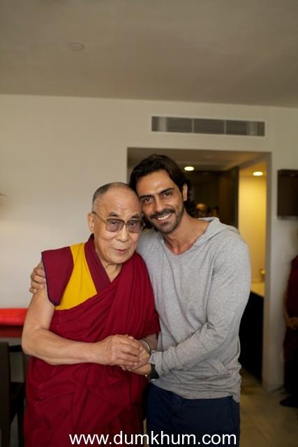 Arjun Rampal meets Dalai Lama