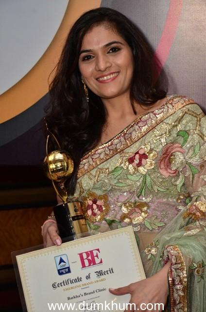 Barkha's Brand Clinic bags prestigious award at the Brand Excellence Awards!