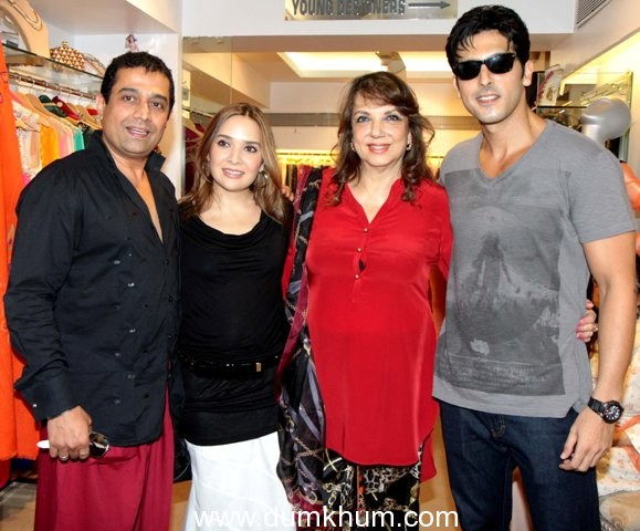 Designer Shaahid Amir launched his festive collection with friends from Bollywood at Fizaa store