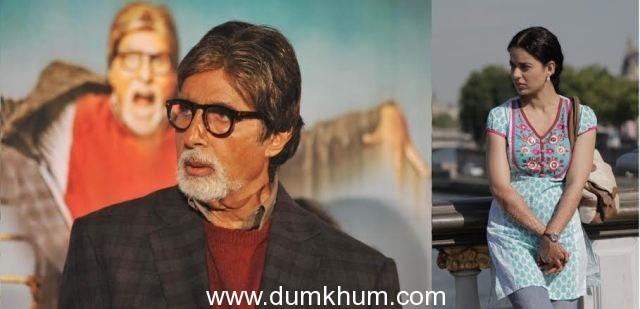 Vikas Bahl's Queen amazes Amitabh Bachchan