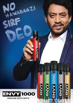 Irfan Khan to endorse ENVY 1000, a leading 'All Perfume, No Gas' deodorant