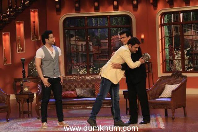 Jeetuji and Tusshar on Comedy Nights with Kapil