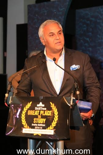 """DR RICHIE NANDA, EXECUTIVE CHAIRMAN OF THE SHIELD GROUP & TOPSGRUP, HONOURED WITH GLOBAL LEADER AWARD FOR ENTREPRENEURSHIP AT """"SKILLTREE GREAT PLACE TO STUDY – INDIA EDITION"""" EVENT"""