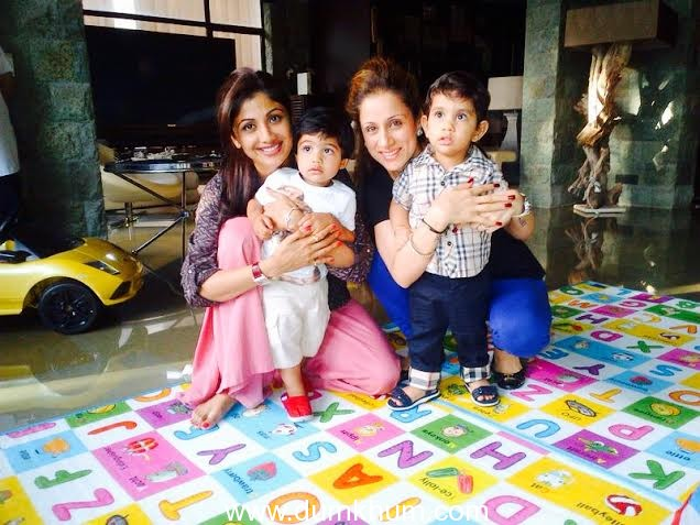 Shilpa Shetty-Rouble Nagi Get Together For A Play Date With Kids
