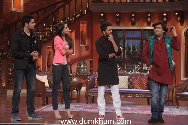 Ek Villain Cast on Comedy Nights With Kapil