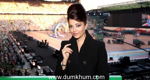 Longines Ambassador of Elegance Aishwarya Rai at the Opening Ceremony of Glasgow 2014, the XX Commonwealth Games