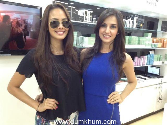 Pageant beauties Koyal Rana and Megan Young at Dessange Paris Kemps Corner salon!