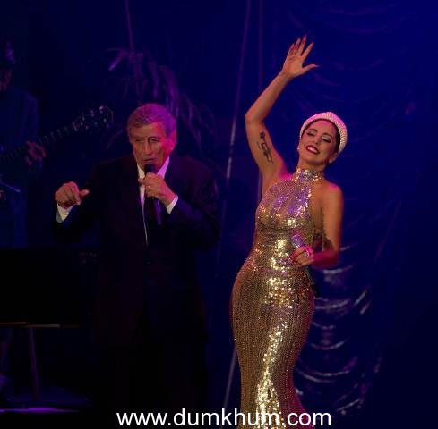Tony Bennett and Lady Gaga  performance shots from Brussels