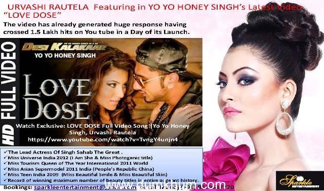 Honey singh new song urvashi