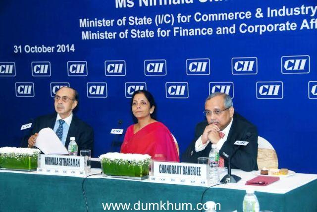 CIM Nirmala Sitharaman at CII Meeting, Mumbai