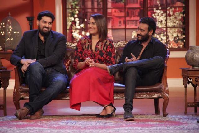 Comedy Nights With Kapil with Sonakshi Sinha, Ajay Devgan, Prabhu Deva, Kunaal Roy Kapur and Manasvi Mamgai.