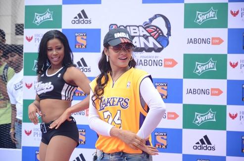 NEETU CHANDRAA SLAM DUNKED FOR NBA JAM POWERED BY JABONG.COM IN PARTNERSHIP WITH SONY SIX IN MUMBAI