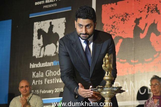 Abhishek Bachhan inaugurates the Kala Ghoda Arts Festival 2015