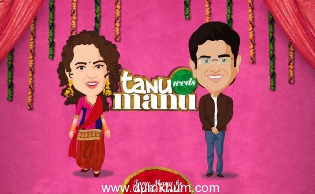 Tanu Weds Manu Returns Caricatures Motion Poster