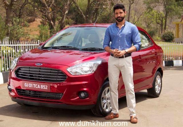 Farhan Akhtar spotted with Ford's upcoming car – Figo Aspire