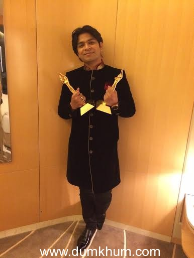 Ankit bags Best Composer and Best Singer AIBA award for Galliyan