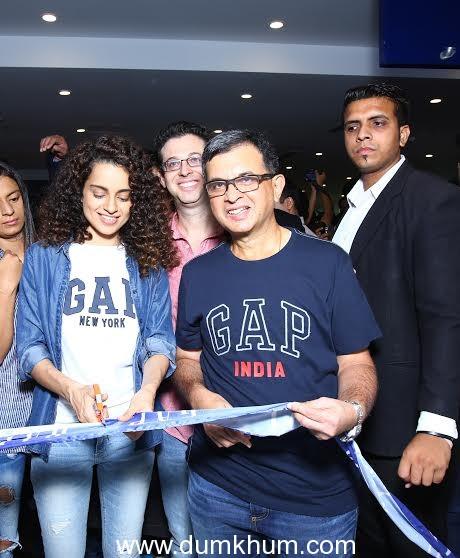 Kangana Ranaut inaugurates the first GAP store in India  at Select CITYWALK