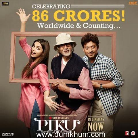 'Piku' is a Smash Hit Worldwide with 86 Crores