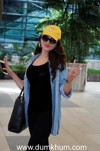 Bollywood Actress Urvashi Rautela Snapped at Mumbai Domestic Airport.