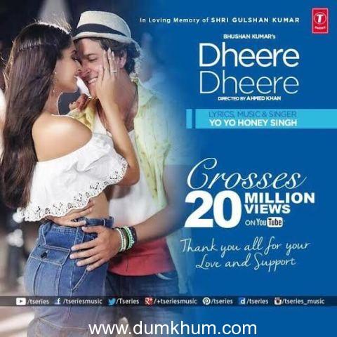 "Bhushan Kumar's ""Dheere Dheere"" breaking records…."