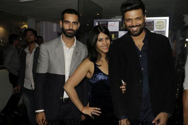 01 L- R Sunny Arora, Ekta Kapoor and Anand Mishra @ the launch of SBUYS Telly Calendar 2016 .