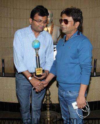 .Aneel Murarka with Rajpal Yadav