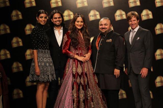 Designer JJ Valaya and Showstopper Sonakshi Sinha at Blenders Pride Fashion Tour in Mumbai