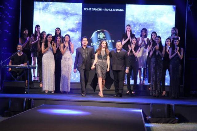Designer Rohit Gandhi, Gaurav Raina (Music Producer – Blenders Pride Fashion Tour), Karsh Kale, Parineeti Chopra (showstopper for Rohit Gandhi Rahul Khanna), Rahul Khanna, Randolph aka Func