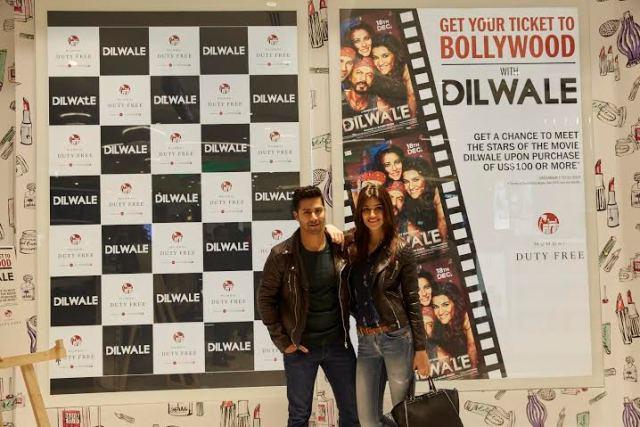Dilwale Team at Mumbai Duty Free -
